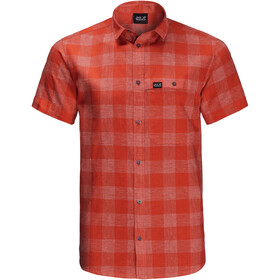 Jack Wolfskin Highlands SS Shirt Men, chili checks